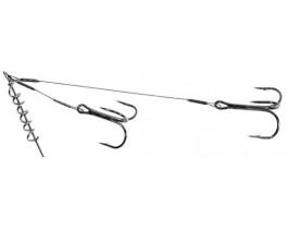 Поводок для оснастки силикона Jaxon Sumato AJ-PAK с двумя тройниками