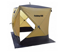 "Палатка зимняя Куб ""Fishing ROI"" CYCLONE (150*150*170см) beige-dark"