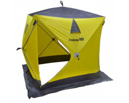 "Палатка зимняя Куб ""Fishing ROI"" ATLANT (150*150*170см) yellow-grey"