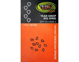 Кольцо крючковое-капля Технокарп Tear drop rig ring