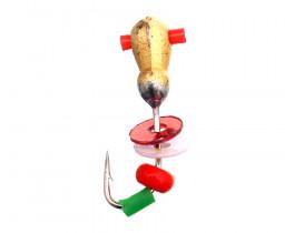 Мормышка вольфрамовая Flagman Муравей с отверстием пайетки и бисер