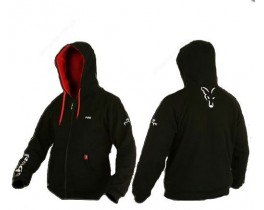 RAGE heavy hoodie BLACK L with red and white logos etc Толстовка