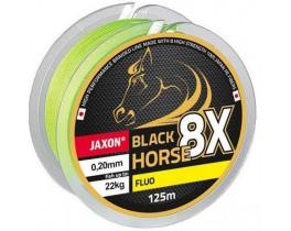 Плетёнка Jaxon Black Horse 8X Fluo 125m
